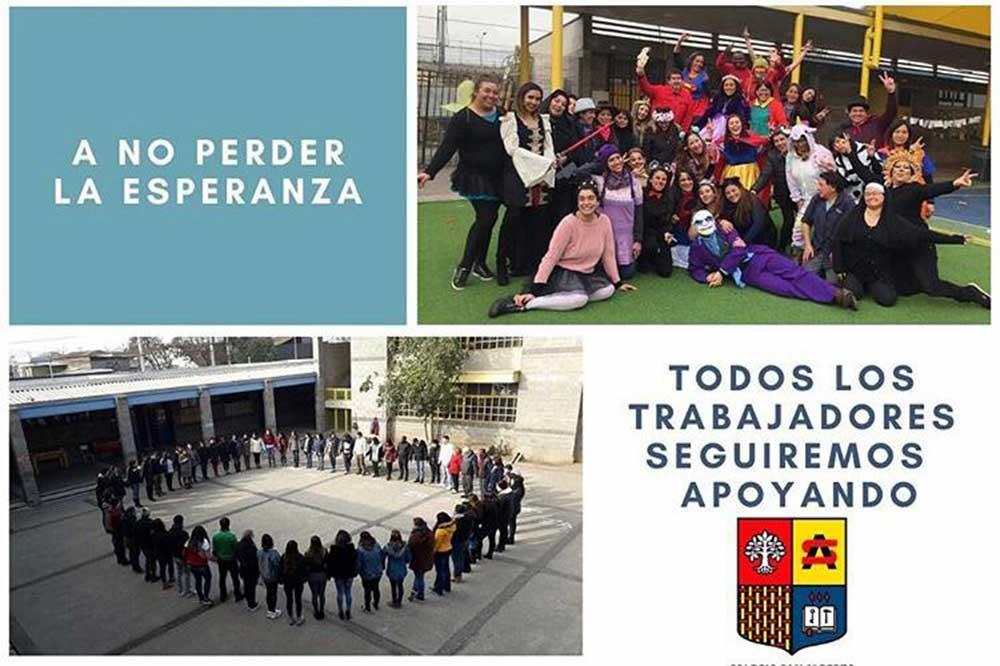 Danos una mano. Campaña del Colegio San Alberto en Estación Central.